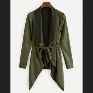 NEW olive military green jacket with belt